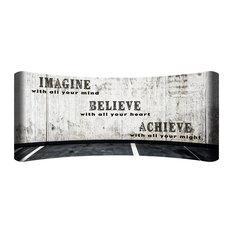 """""""Imagine Believe Achieve"""" HD Curved Steel Wall Art"""