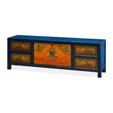 China Furniture and Arts - Elmwood Tibetan Kang Cabinet - Media Cabinets