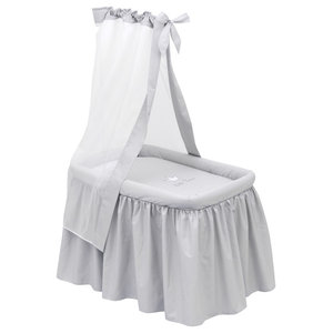 """""""Little Prince"""" Cot and Bedding Set, Grey, 81x55 cm"""