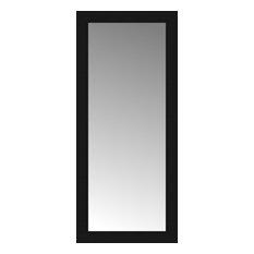"18""x40"" Custom Framed Mirror, Smooth Black"