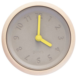 Gone's Toupie Wall Clock, Yellow Hands