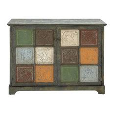 Rustic Wood Storage Cabinets