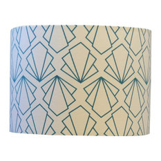 Sunbeam Drum Table Lampshade, Turquoise, Small