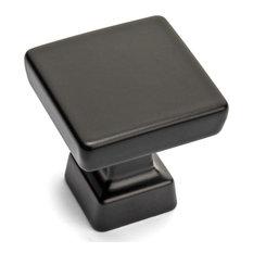 Cosmas 1480FB Flat Black Modern Contemporary Square Cabinet Knob