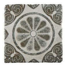 "SomerTile 7.75""x7.75"" Costa Cendra Decor Floor/Wall Tile, Case of 25, Primrose"