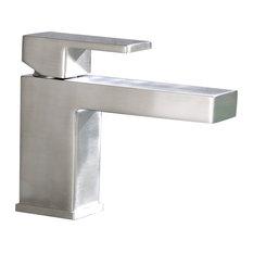 Luxier Single Handle Hole Bathroom Vanity Sink Lavatory Faucet, Brushed Nickel