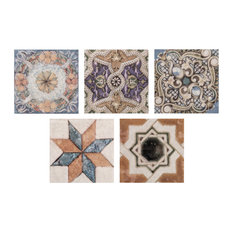 "12.5""x12.5"" Azorin Ceramic Floor and Wall Tile, Taco, 2.75""x2.75"""