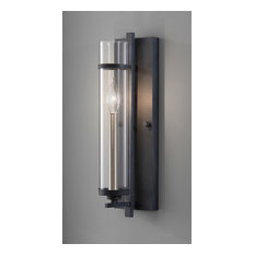 Feiss 1-Light Forged Iron/Brushed Steel Sconce