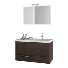 "39"" Wenge Bathroom Vanity Set"