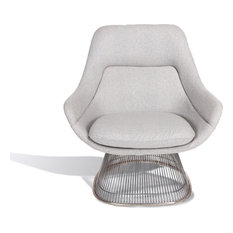 Westmoreland Easy Chair, Light Gray, Chrome