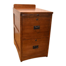 Wonderful Crafters And Weavers   Mission Solid Oak 2 Drawer File Cabinet   Filing  Cabinets