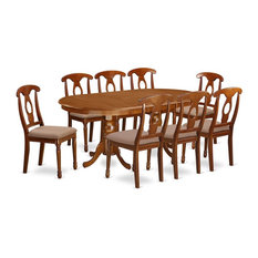 9-Piece Formal Dining Room Set Table 8 Dinette Chairs With Cushion