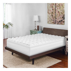 "SensorPEDIC 4"" Gel-Infused Memory Foam/Down Alternative Mattress Topper, Twin"