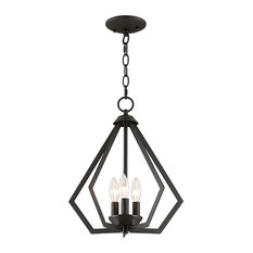 Prism 3-Light Mini Chandelier/Ceiling Mount, Bronze