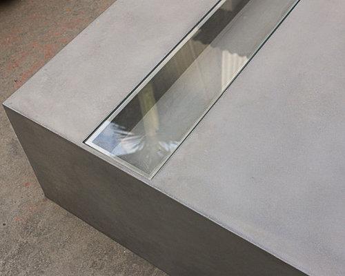 table basse b ton jardin zen green zen concrete coffee table. Black Bedroom Furniture Sets. Home Design Ideas