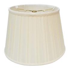"Royal Designs Empire English Pleat Basic Lampshade, Eggshell, 8""x12.5""x7.5"""