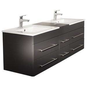 Emotion Roma Bathroom Furniture, 150 cm, Anthracite Semi-Gloss