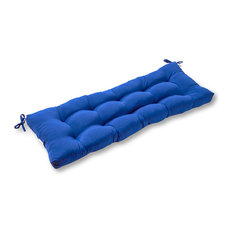 Outdoor 44 in. Swing and Bench Cushion, Marine Blue