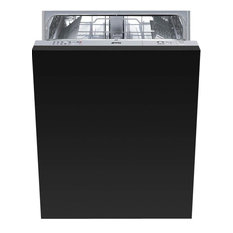 "Smeg STU8249 24"" Built In Fully Integrated Dishwasher, Black"