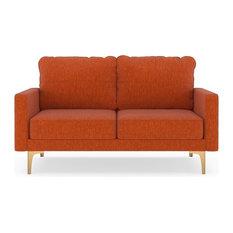 Preston Sofette Pebble Weave Poppy Orange