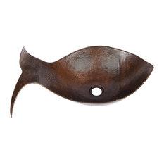 Fish Vessel Hammered Copper Sink