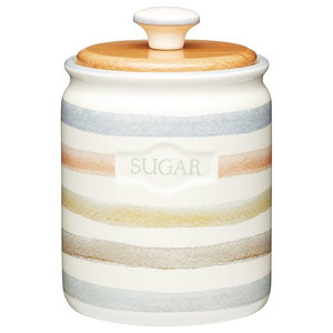 KitchenCraft Classic Collection Striped Ceramic Sugar Caddy