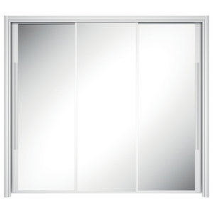 Cyrus Triple White Sliding Door Wardrobe