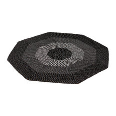 Better Trends   Country Braid Stripe Braided Rug, American, 6u0027 Octagonal,  Black