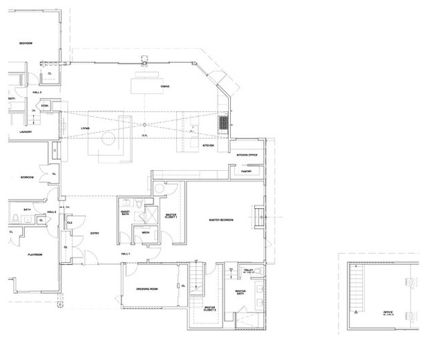 Houzz tour from cookie cutter look to modern family home for Cookie cutter house plans