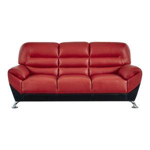 Global Furniture Flared Arms Red/Black Sofa Global Furniture USA