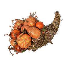 """9""""x13"""" Pumpkin Cornucopia"""