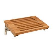 "Teakworks4u Wall Mount Fold Shower Bench With Slats, 18""W x 13""D,Plantation"