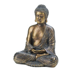 Accent Plus - Sitting Buddha Statue - Decorative Objects and Figurines
