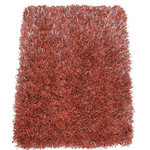 "Kane Carpet - Kane Carpet Tempera Shag Cinnabar Ultra Soft Area Rug 1.5"" Thick Shag - Tempera Shag Cadmium Ultra Shag Area Rug 
