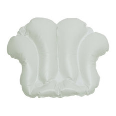 Inflatable Bath Pillow With Suction Cups White