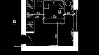 Дизайн-проект спальни в современном стиле