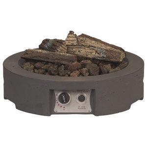 Round Cocoon Fire Pit, Grey