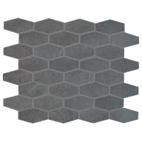 "12""x12"" Basalto Honed Elongated Hexagon Modern Mosaic"