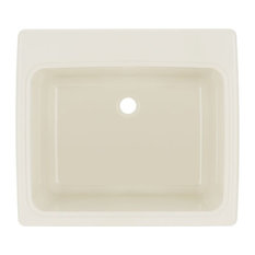 Swan   Swan 22x25x13.5625 Solid Surface Utility Sink, Bisque   Utility Sinks