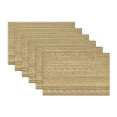 Metallic Basketweave Placemat, Set of 6, Gold