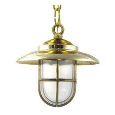 Nautical Ceiling Light (Indoor / Outdoor / Solid Brass), Unlacquered Brass