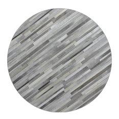 Bashian Hunter Area Rug, Gray, 6'x6'
