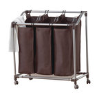 Neatfreak Deluxe Triple Laundry Sorter With Everfresh