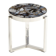 Geodance Side Table Nickel