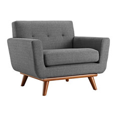 Engage Upholstered Fabric Armchair, Gray