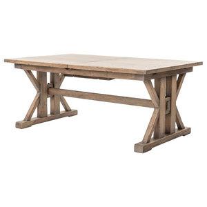 """Darius Ext Dining Table 72""""/96"""", Sun"""