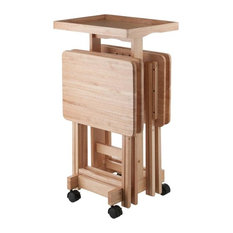 6-Piece Snack Table Set, Natural, Natural