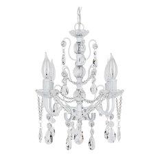 Madeleine 4-Light Chic Glass Crystal Chandelier, White