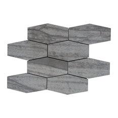 "Evolution Dark Gray 15""x10"" Hexagon Mosaic"