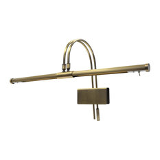 Adjustable LED Grand Piano Lamp, Antique Brass